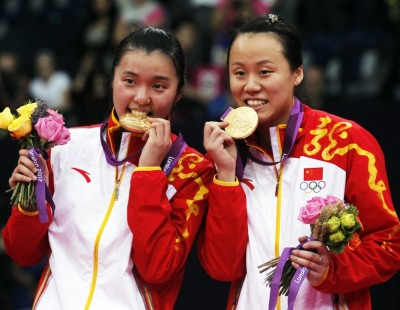 London 2012: Day 8 - Women's Doubles: Double Take for Zhao Yunlei