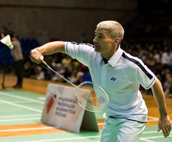 Cosmonauts Prevail in 'Space' Badminton