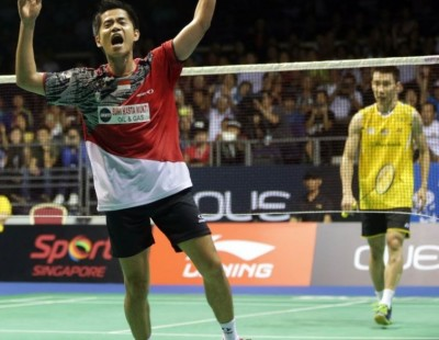 Singapore Open 2014 - Day 6: 'Sant'-sational Simon Crushes Lee Chong Wei