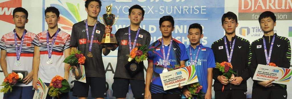 History for Japan – Doubles Finals: BWF World Junior Championships 2017