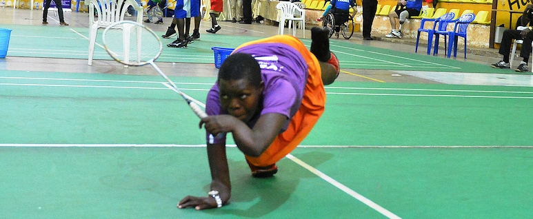 Khamuka Eyes Three Finals – Day 3: Uganda Para-Badminton Intl. 2018