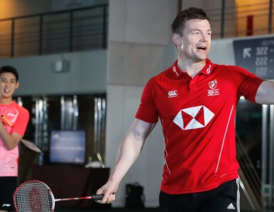Rugby Legend Smitten by Badminton