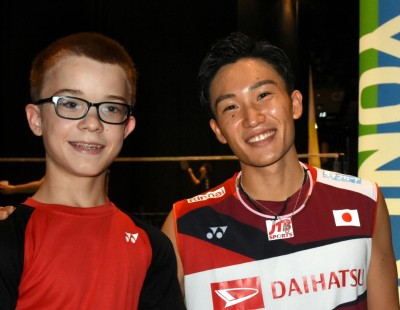 Teenage Shuttler Meets His Idol - Basel 2019