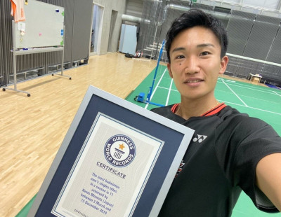 Momota Receives Guinness Honour