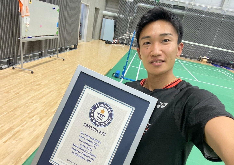 Momota Receives Guinness Honour