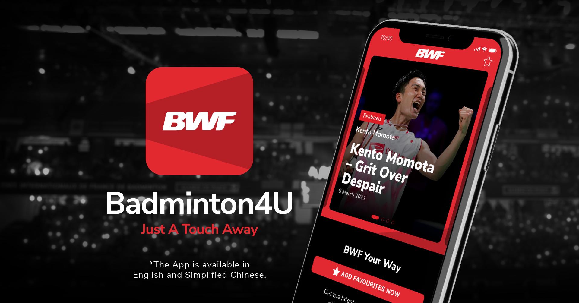 BWF's Badminton4U App is Coming Soon