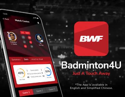 BWF Launches New Badminton4U App